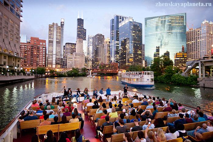 прогулка-на-катере-по-реке-Чикаго