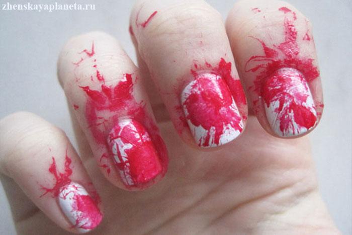 обрызганные-ногти