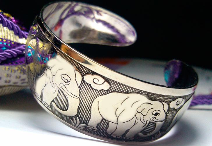 серебряное украшение браслет