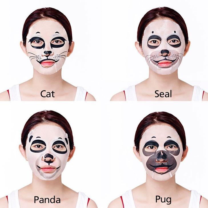 маски-на-девушке