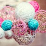 Как сделать шар из ниток: декор своими руками