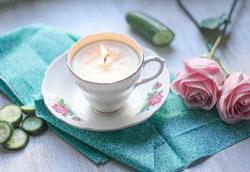 Как сделать свечу в чайной чашке?
