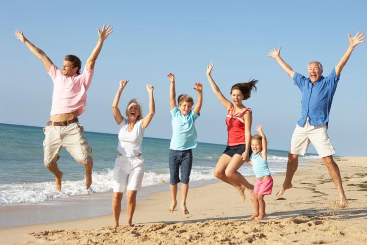 семейное путешествие на море