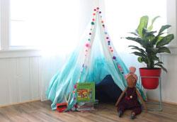 Как сделать детскую игрушечную палатку?