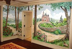 Как нарисовать фреску на стене?