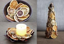 Зимний декор для дома из сухофруктов