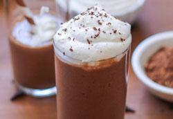 Здоровый рецепт шоколадного коктейля без молока