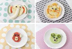 Детские фруктовые десерты в виде животных
