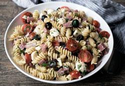 Макаронный салат по-итальянски: пошаговый рецепт