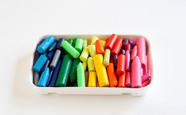 огрызки восковых карандашей